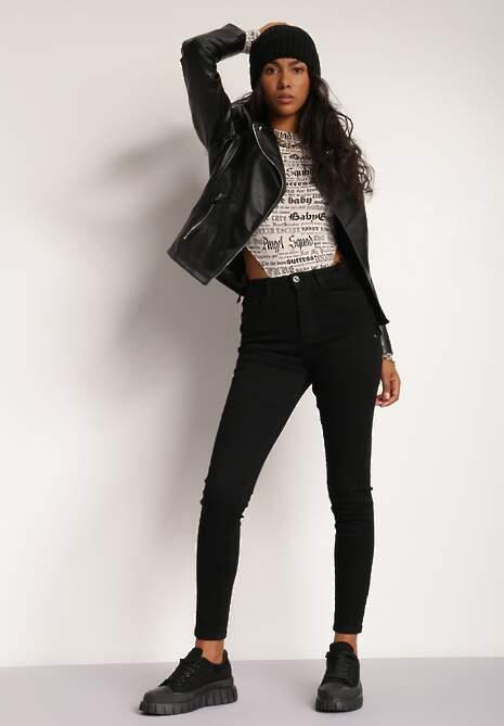 Czarne Spodnie Skinny Mairea