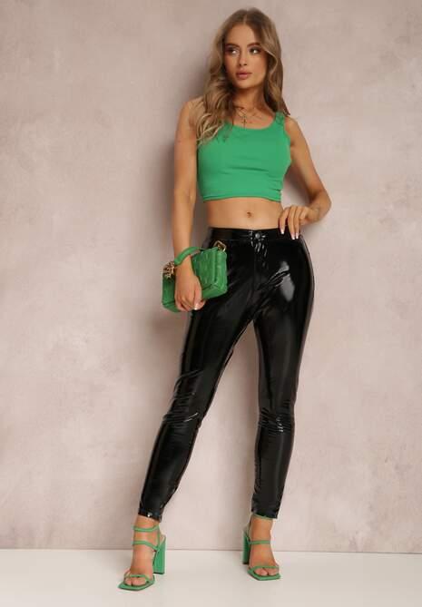 Czarne Spodnie Winylowe Echimisia