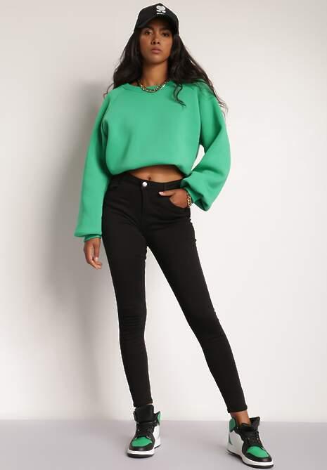 Czarne Spodnie Skinny Harphithea