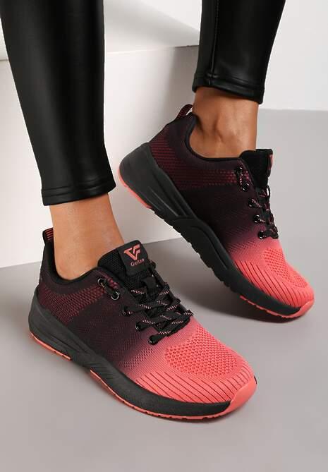 Czarno-Czerwone Buty Sportowe Hiniassi