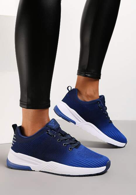 Czarno-Niebieskie Buty Sportowe Hiniassi