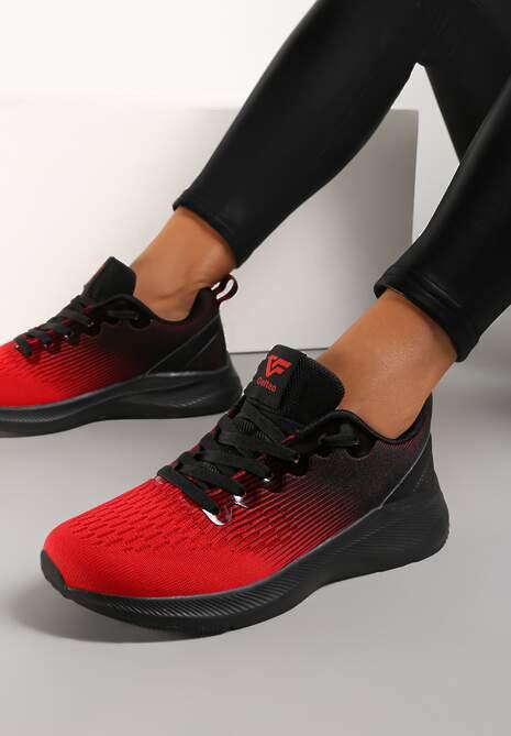 Czarno-Czerwone Buty Sportowe Zabkiel