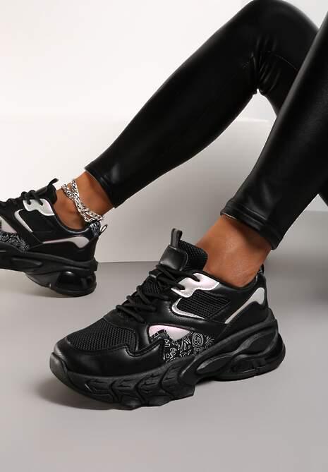 Czarne Sneakersy Kelarane