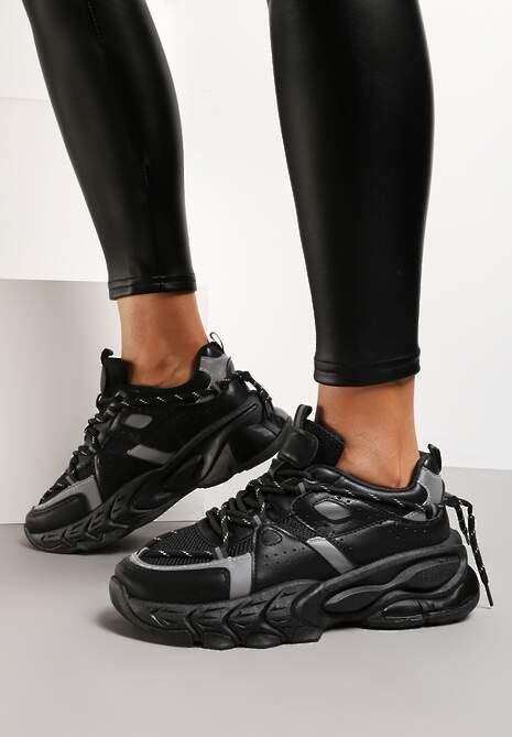 Czarne Sneakersy Etana