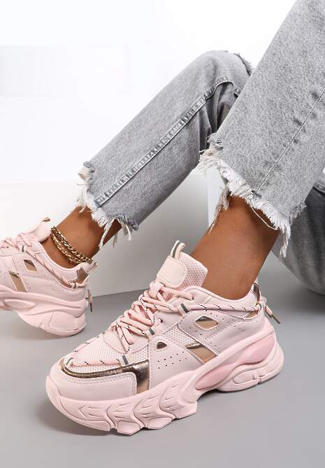 Różowe Sneakersy Etana