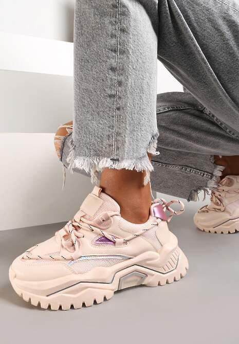 Różowe Sneakersy Olione