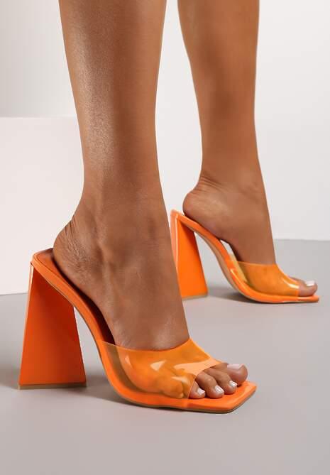 Pomarańczowe Klapki Aurabelle