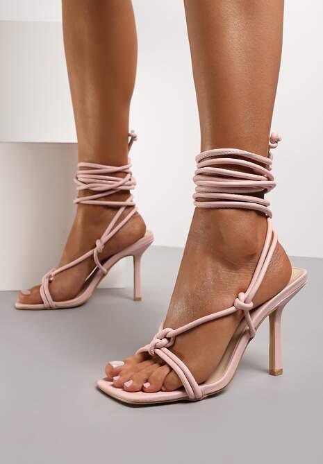 Różowe Sandały Blesse