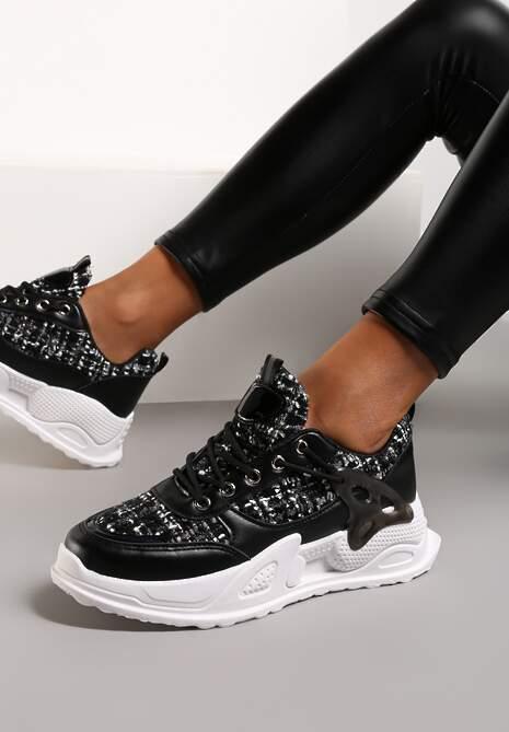 Czarne Sneakersy Silvesse