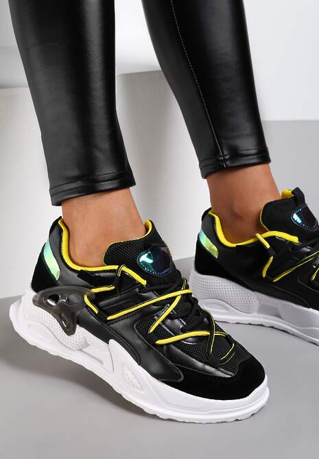 Czarne Sneakersy Auralyn