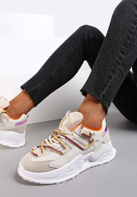 Beżowe Sneakersy Auralyn