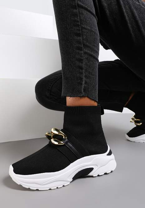 Czarne Sneakersy Calothe