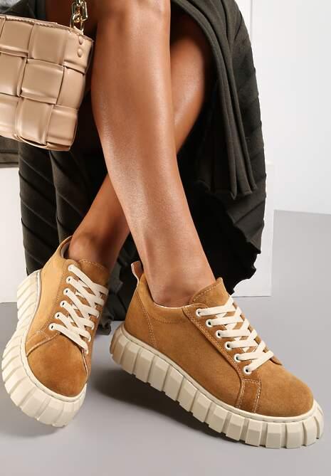 Camelowe Sneakersy Ianthehe