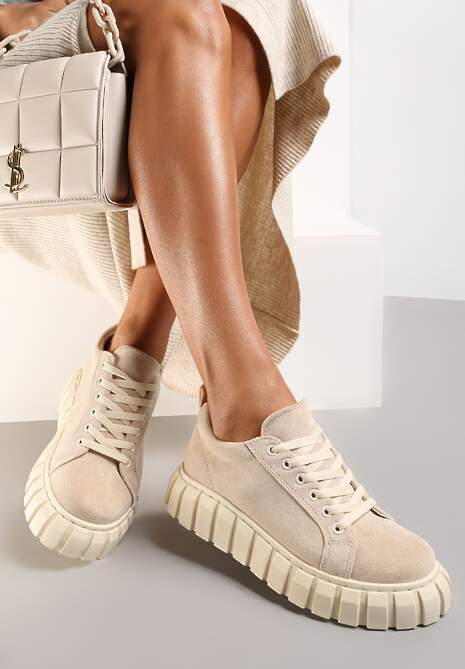 Beżowe Sneakersy Ianthehe