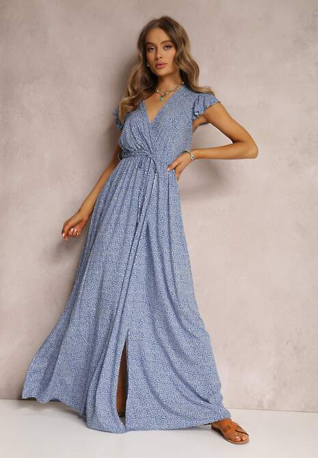 Niebieska Sukienka Karmay