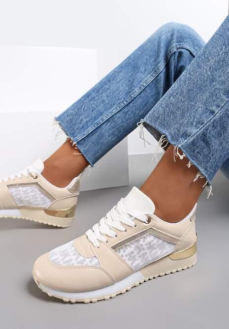 Beżowe Sneakersy Galilina