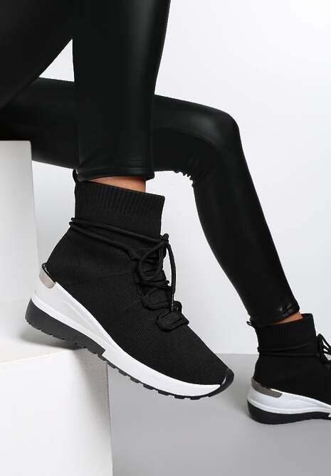Czarne Sneakersy Orany
