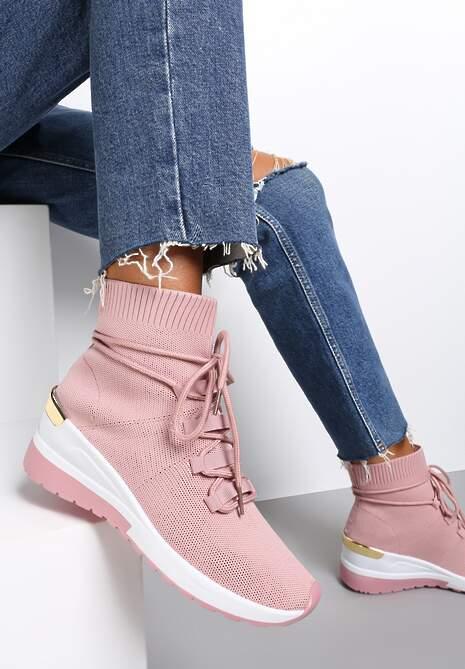 Różowe Sneakersy Orany