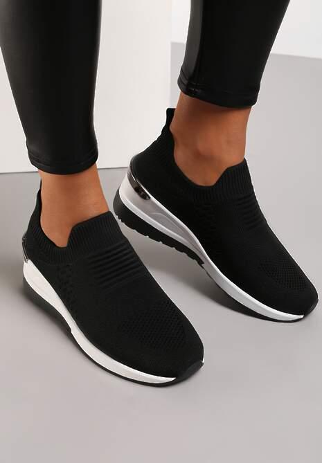 Czarne Sneakersy Elmas