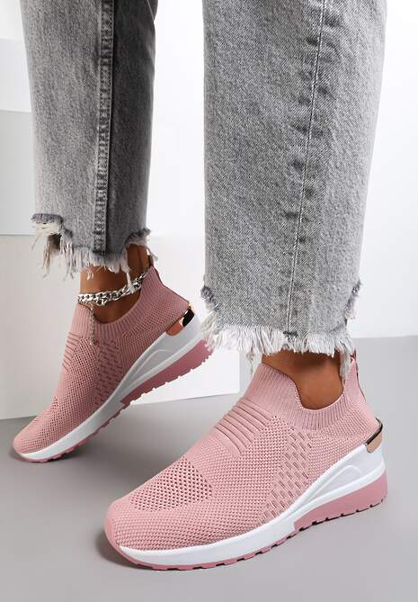 Różowe Sneakersy Elmas
