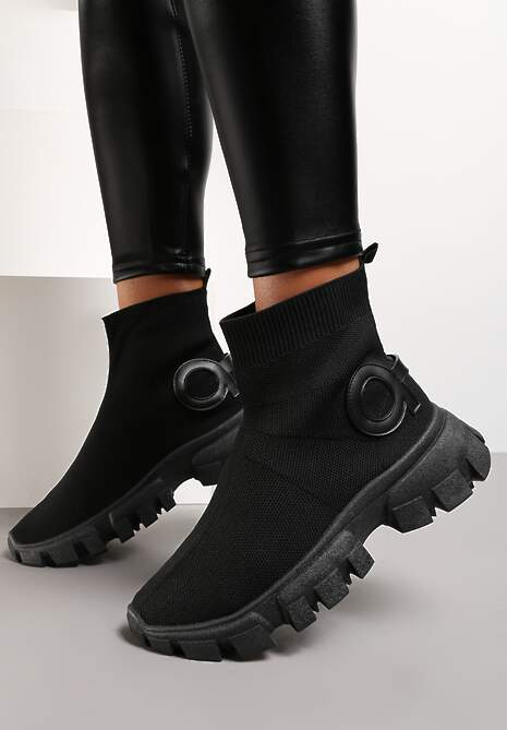 Czarne Sneakersy Langaria