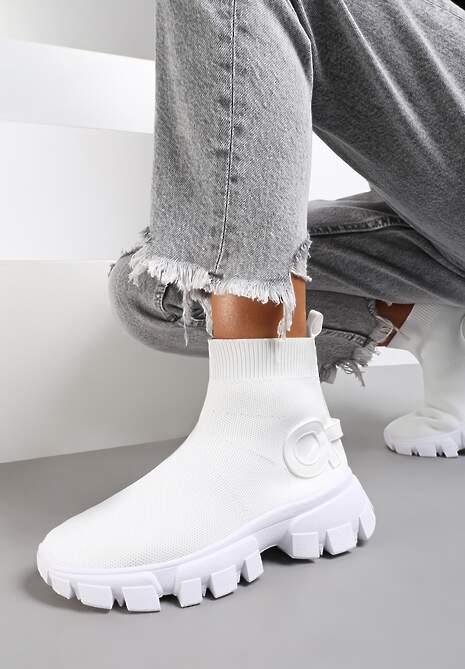 Białe Sneakersy Langaria