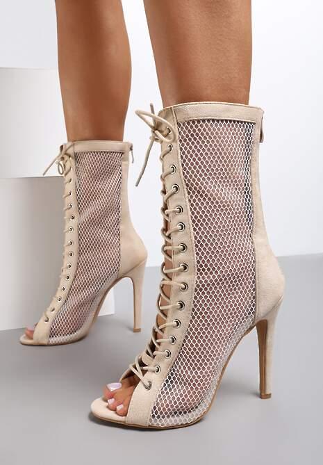 Beżowe Sandały Sylithea