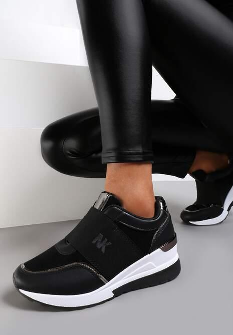 Czarne Sneakersy Acape