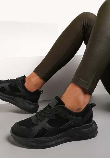 Czarne Sneakersy Vophior