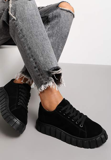 Czarne Sneakersy Azaro