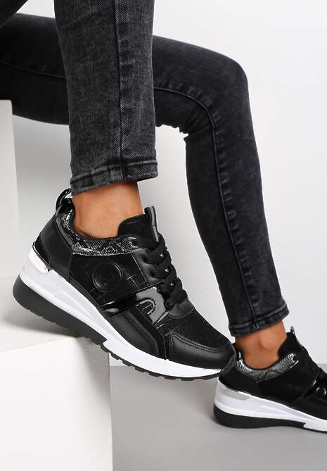 Czarne Sneakersy Avashann