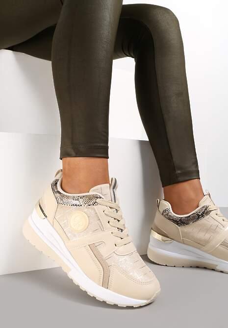 Beżowe Sneakersy Avashann