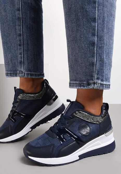 Granatowe Sneakersy Avashann