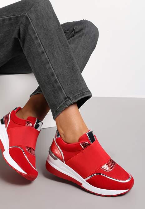 Czerwone Sneakersy Akhazriel