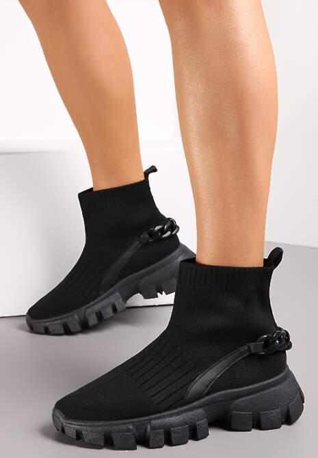 Czarne Sneakersy Astissa