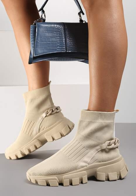 Beżowe Sneakersy Astissa