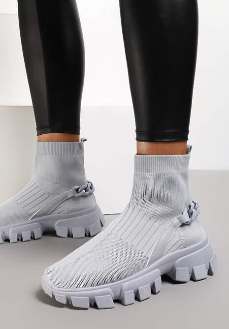 Szare Sneakersy Astissa