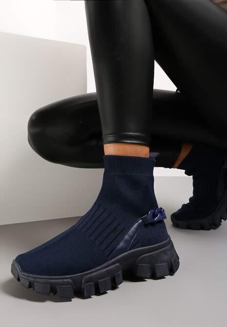 Granatowe Sneakersy Astissa