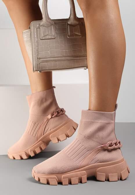 Różowe Sneakersy Astissa
