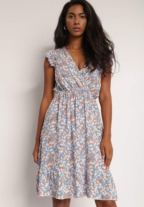 Jasnoniebieska Sukienka Odeis