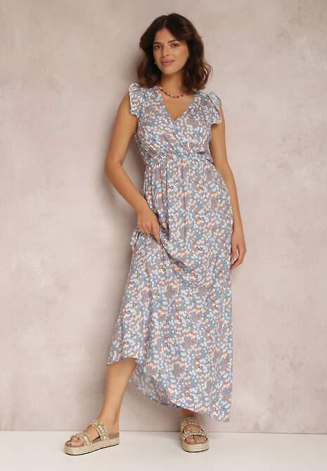 Jasnoniebieska Sukienka Asmodel