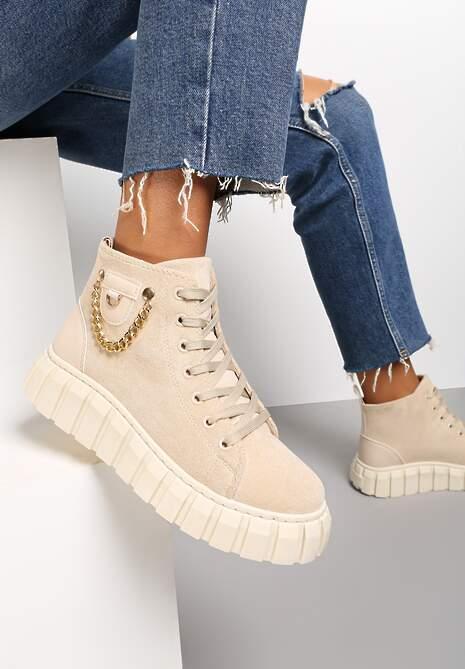 Beżowe Sneakersy Pyrhilea