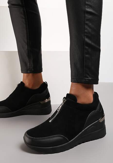 Czarne Sneakersy Antona
