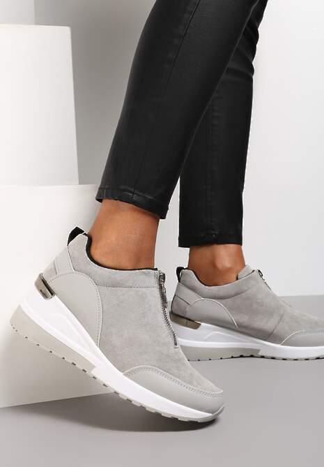 Szare Sneakersy Antona