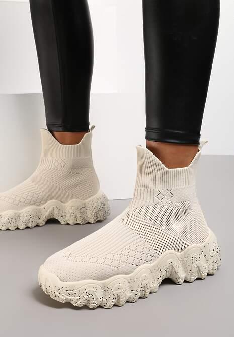 Beżowe Sneakersy Calameia