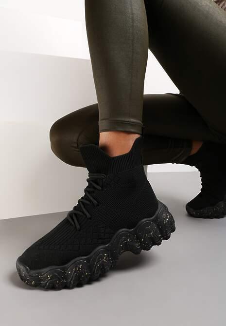 Czarne Sneakersy Khlorede