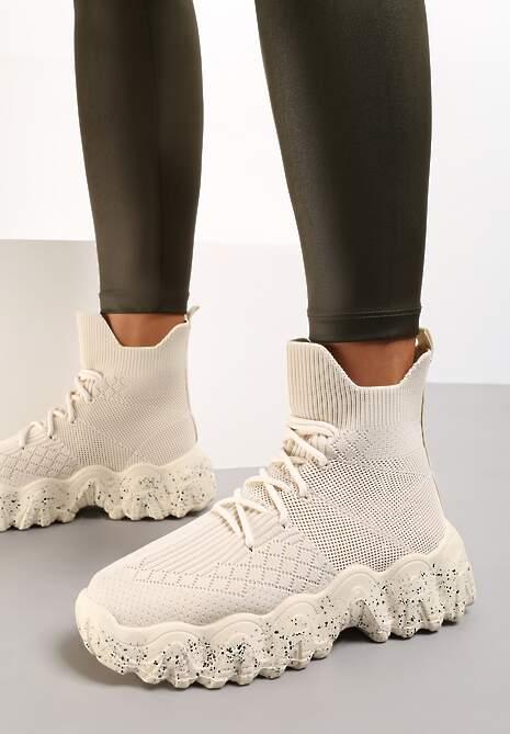Beżowe Sneakersy Khlorede
