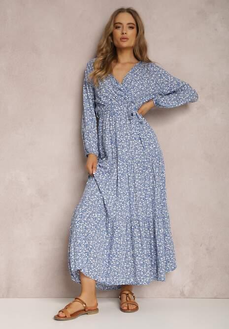 Niebieska Sukienka Hasiphelia