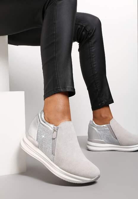 Szare Sneakersy Actelle