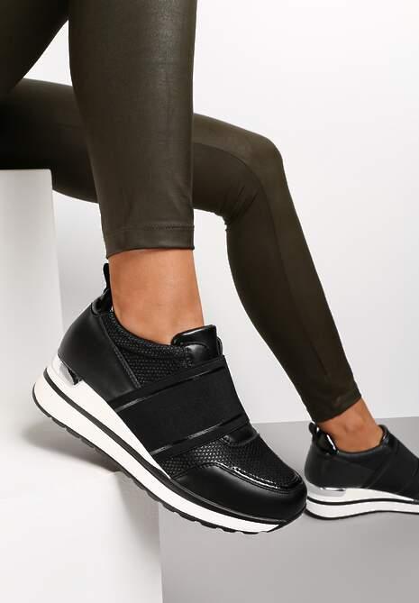 Czarne Sneakersy Hesiopis